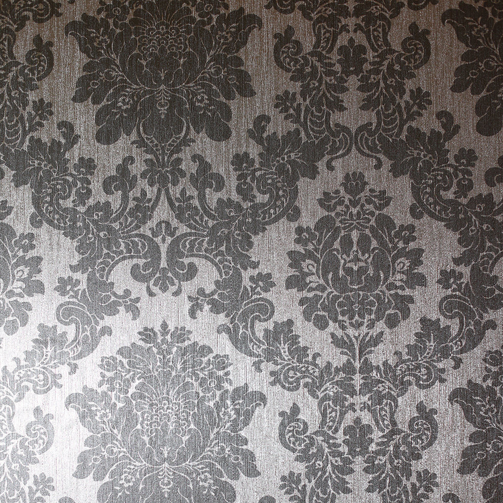 Foil Damask Wallpaper - Silver - by Arthouse