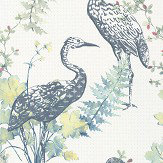 Albany Oriental Bird Blue / Green Wallpaper