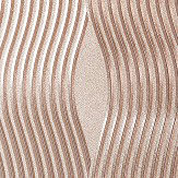 Arthouse Foil Wave Rose Gold Wallpaper