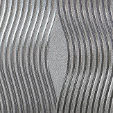Arthouse Foil Wave Silver Wallpaper