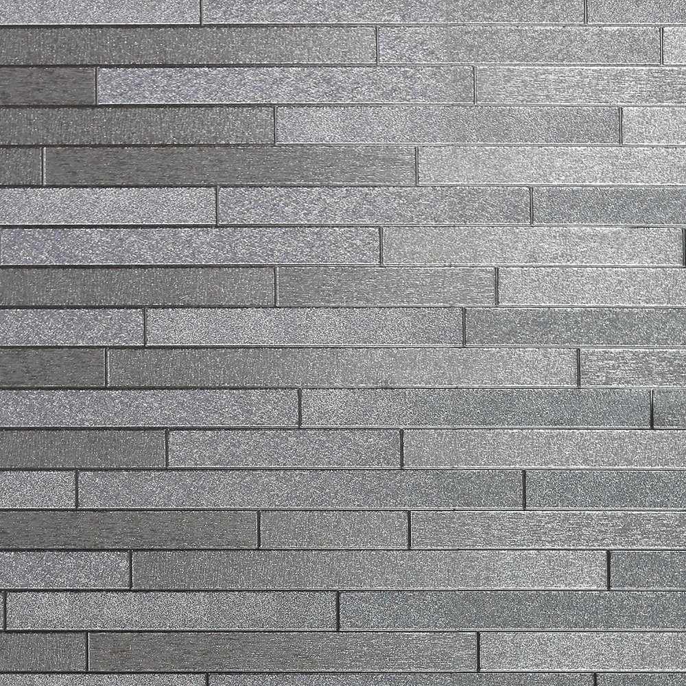 Foil Slate Wallpaper - Silver - by Arthouse