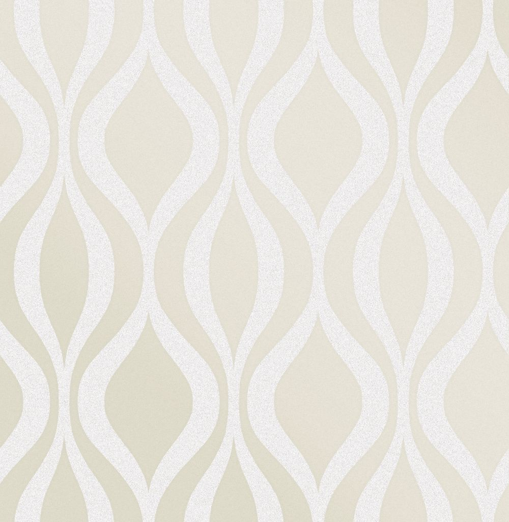 Monaco Geo Wallpaper - Cream - by Albany