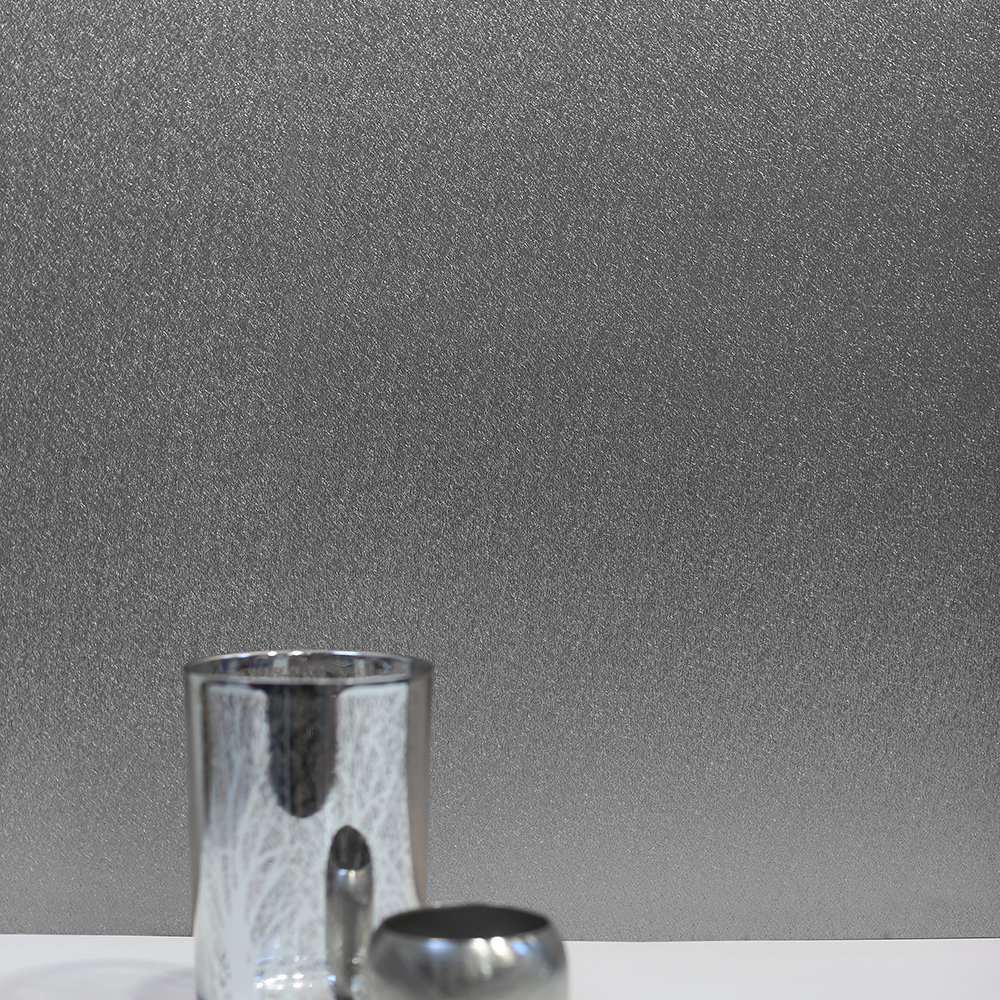 Foil Plain Wallpaper - Silver - by Arthouse
