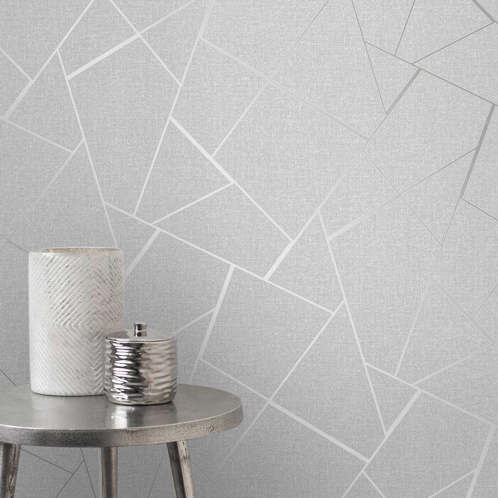 Albany Quartz Silver Grey Wallpaper - Product code: FD42280