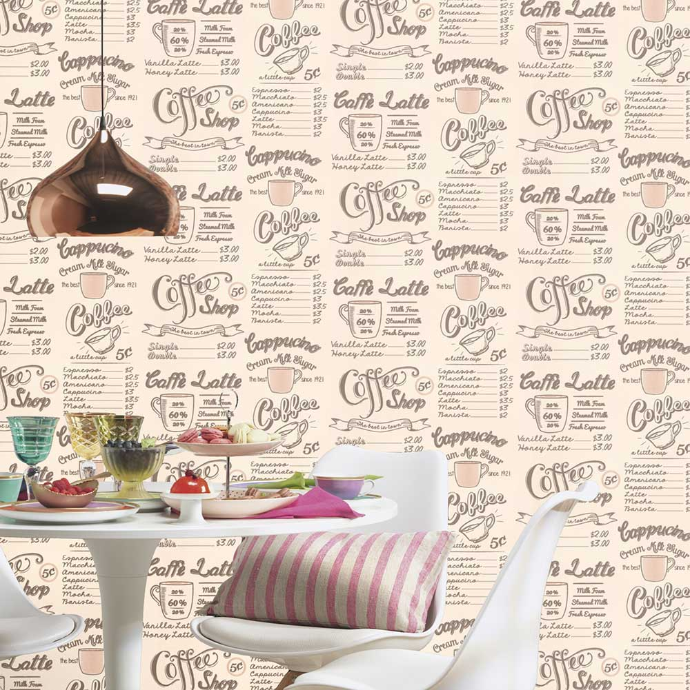 Albany Coffee Shop Cream Wallpaper - Product code: 614923