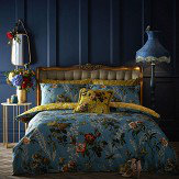 Oasis Leighton Single Duvet Set Teal Duvet Cover