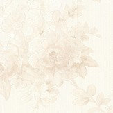 Albany Chateau Roses Opal White Wallpaper