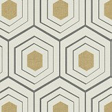 Albany Hexagon Black / Gold Wallpaper