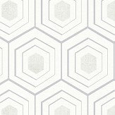 Albany Hexagon Grey / Silver Wallpaper