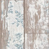 Albany Floral Panel Blue Wallpaper