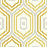Albany Entity Yellow / Grey Wallpaper