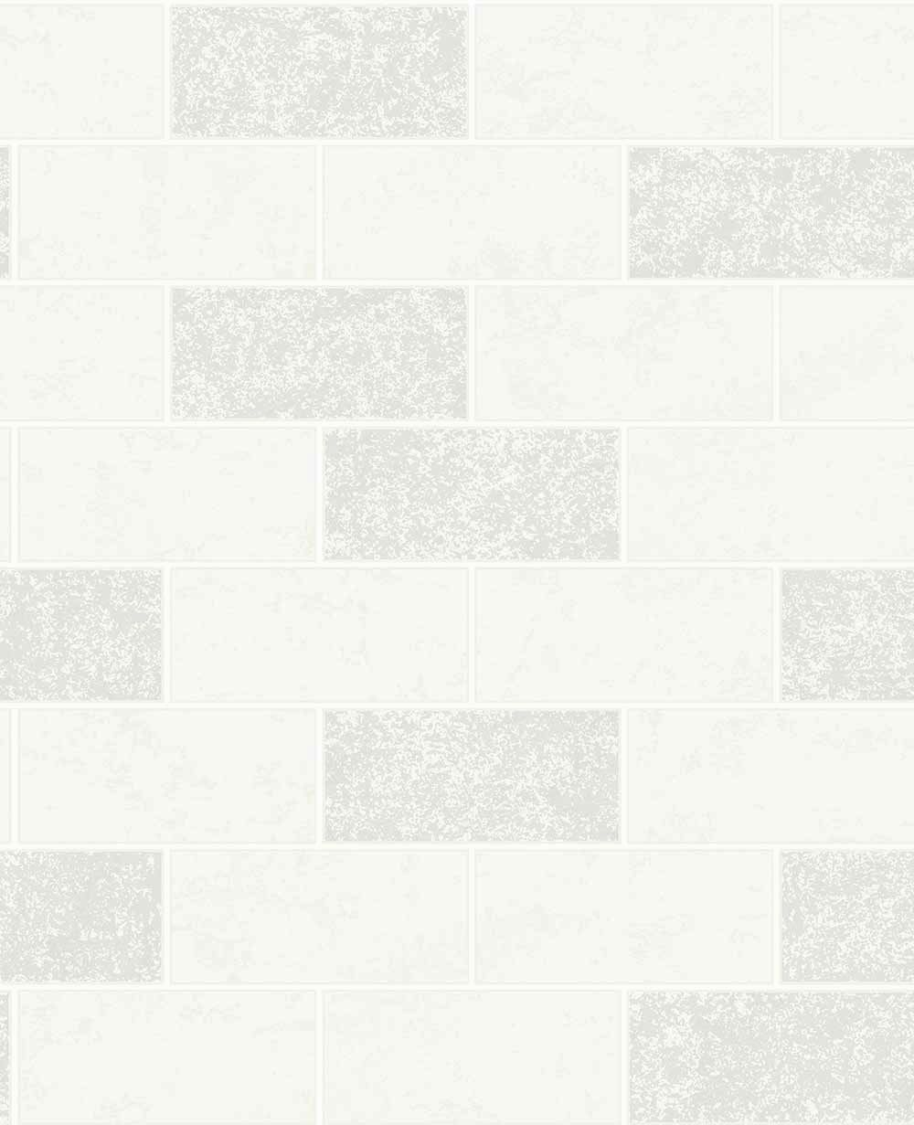 Albany Subway Tile White Wallpaper - Product code: FD41460