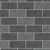 Albany Subway Tile Charcoal Wallpaper