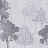 Albany Milano Forest Silver Grey Wallpaper