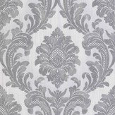 Albany Milano Damask Grey Wallpaper
