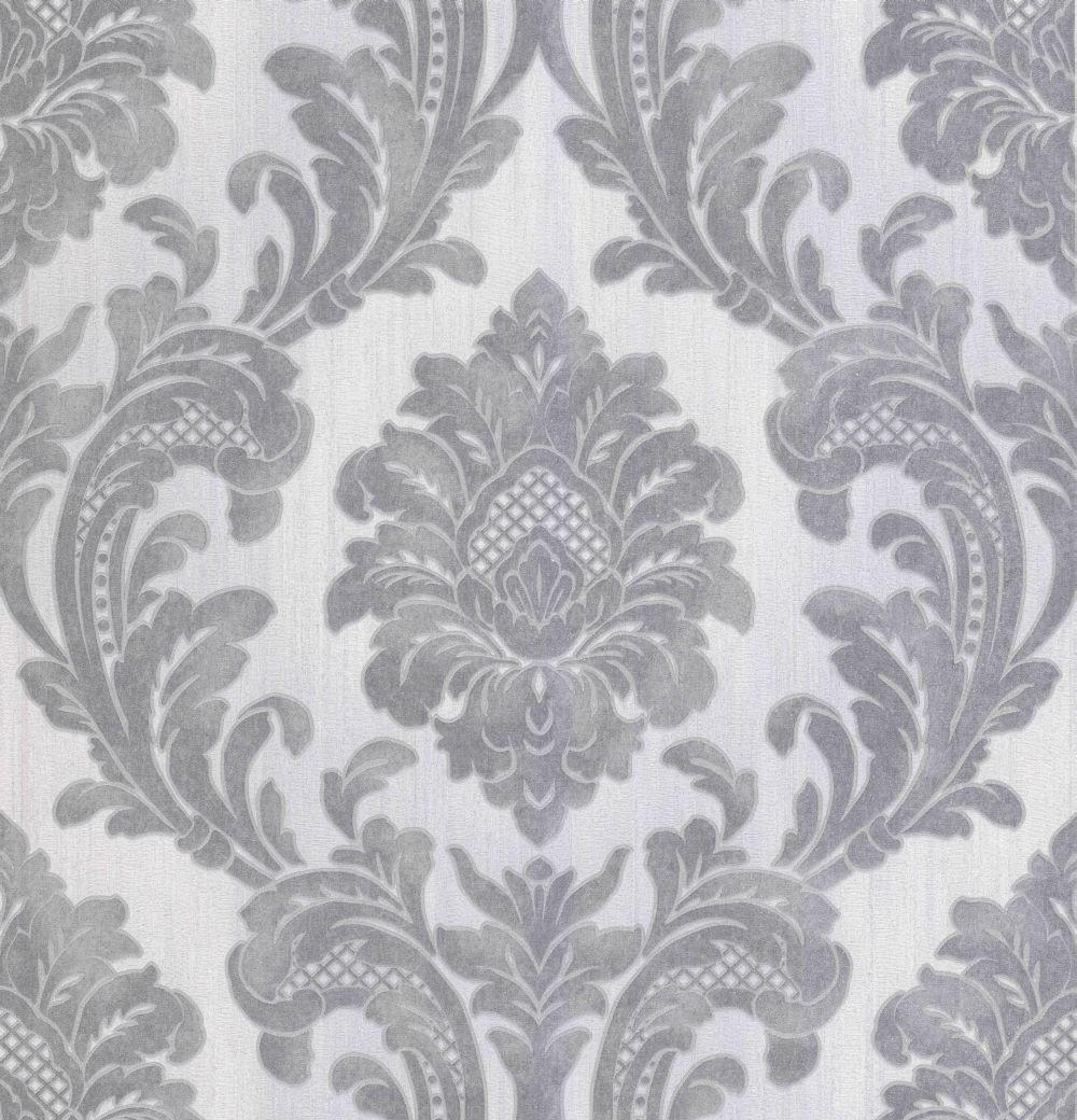 Albany Milano Damask Grey Wallpaper main image