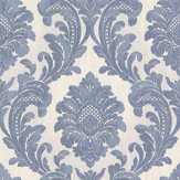 Albany Milano Damask Blue Wallpaper - Product code: M95586