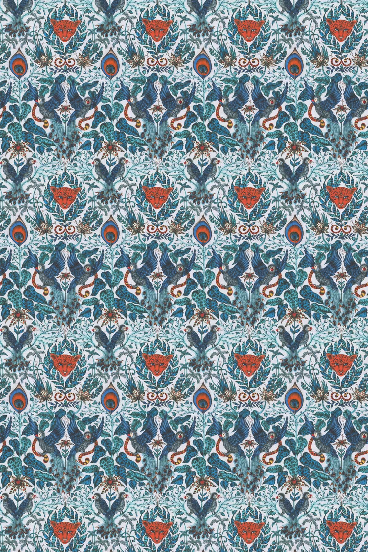 Emma J Shipley Amazon Blue Fabric - Product code: F1107/01