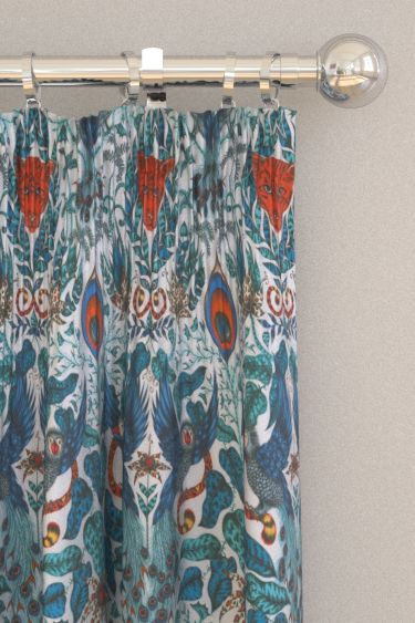 Emma J Shipley Amazon Blue Curtains - Product code: F1107/01