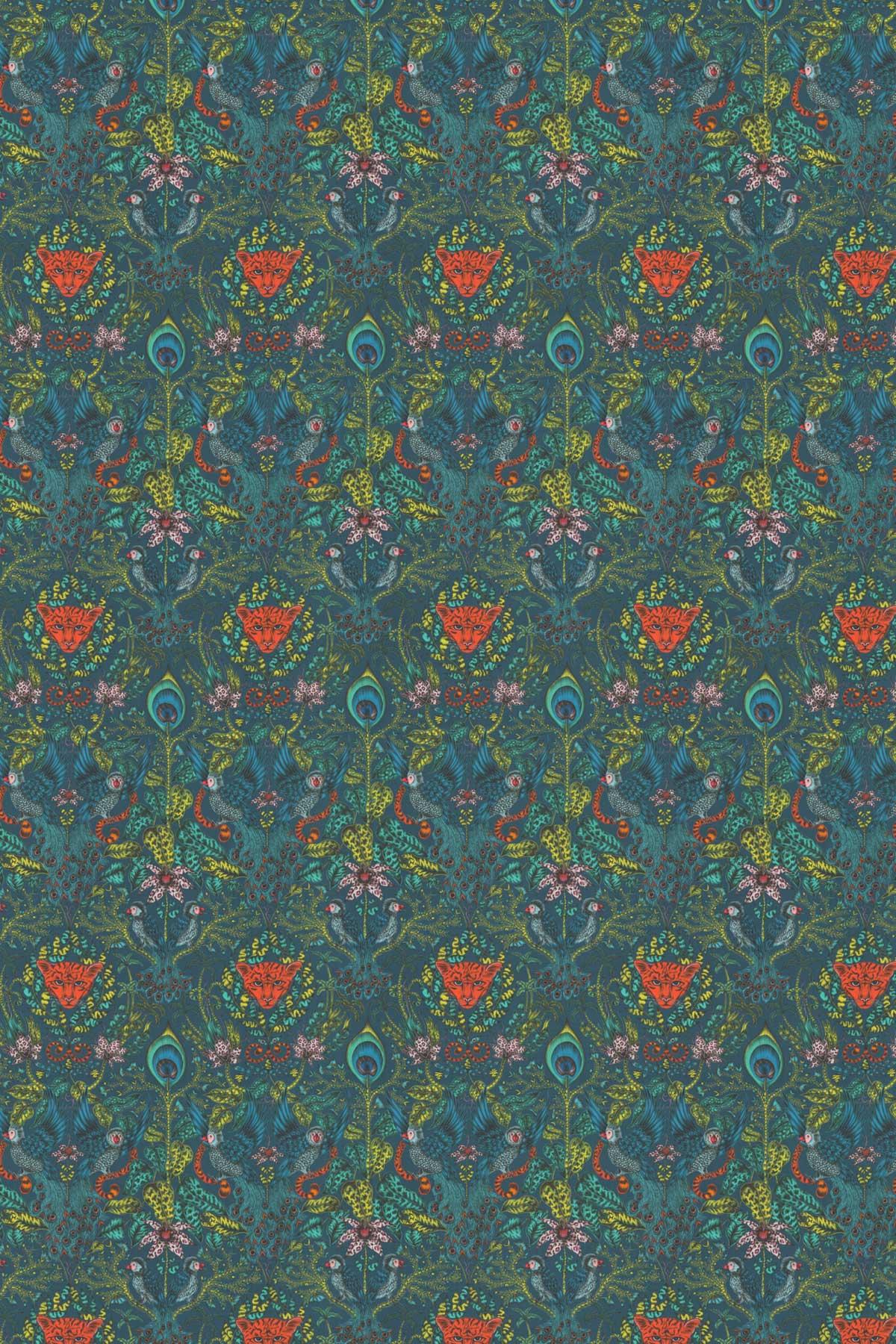 Emma J Shipley Amazon Navy Fabric - Product code: F1107/03
