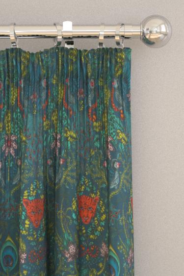 Emma J Shipley Amazon Navy Curtains - Product code: F1107/03