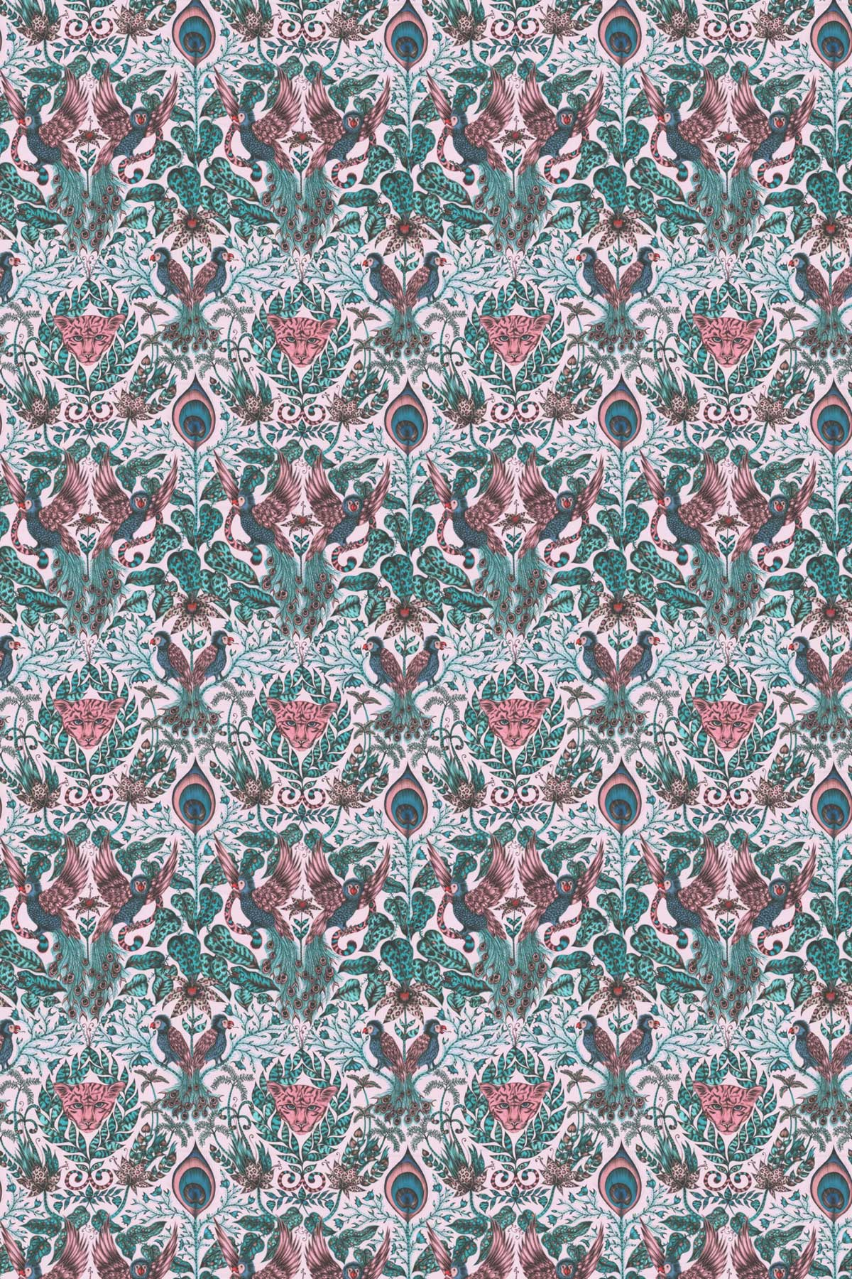 Emma J Shipley Amazon Pink Fabric - Product code: F1107/04