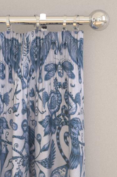 Emma J Shipley Extinct Blue Curtains - Product code: F1109/01
