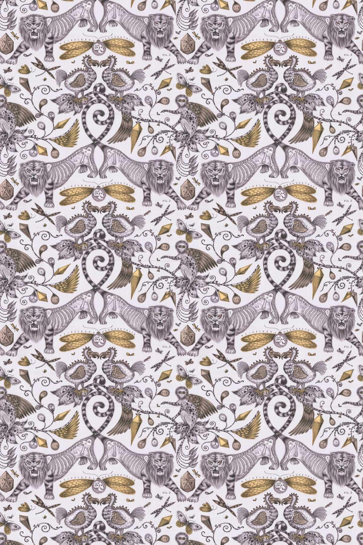 Emma J Shipley Extinct Gold Fabric - Product code: F1109/02