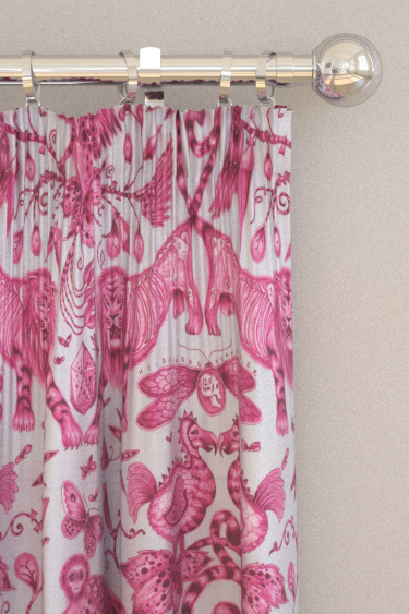 Emma J Shipley Extinct Magenta Curtains - Product code: F1109/03