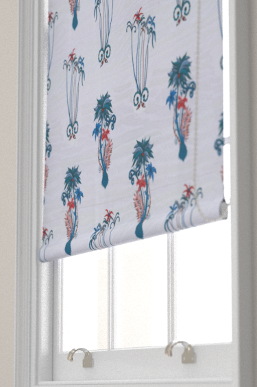 Clarke & Clarke Jungle Palms Blue Blind - Product code: F1110/01