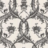 Albany Milano Floral Damask Charcoal Wallpaper