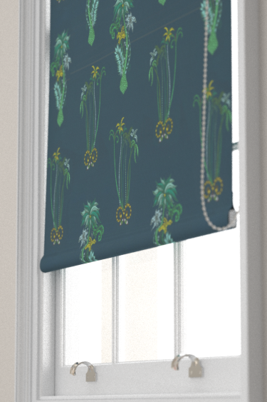Clarke & Clarke Jungle Palms Navy Blind - Product code: F1110/03