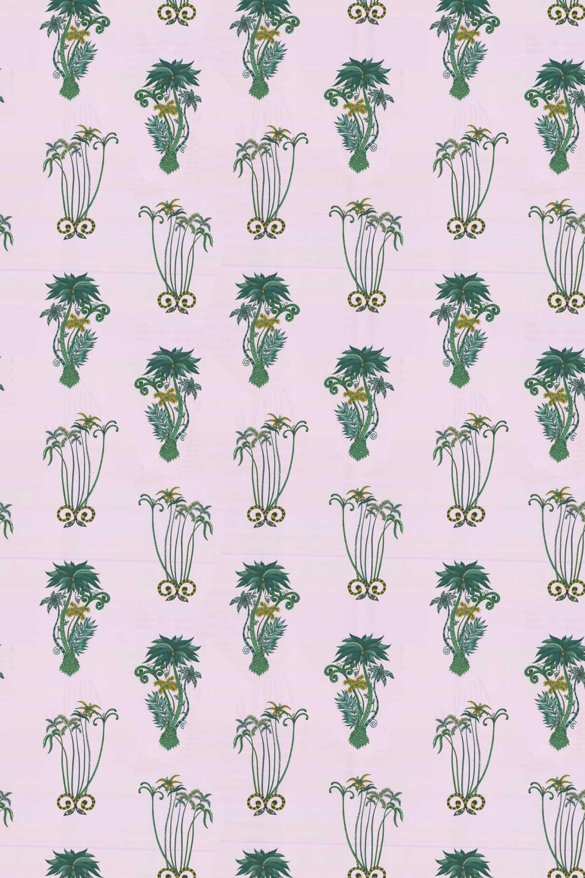 Emma J Shipley Jungle Palms Pink Fabric - Product code: F1110/04