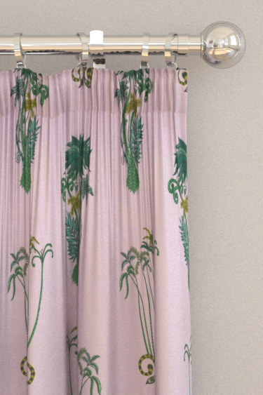 Emma J Shipley Jungle Palms Pink Curtains - Product code: F1110/04