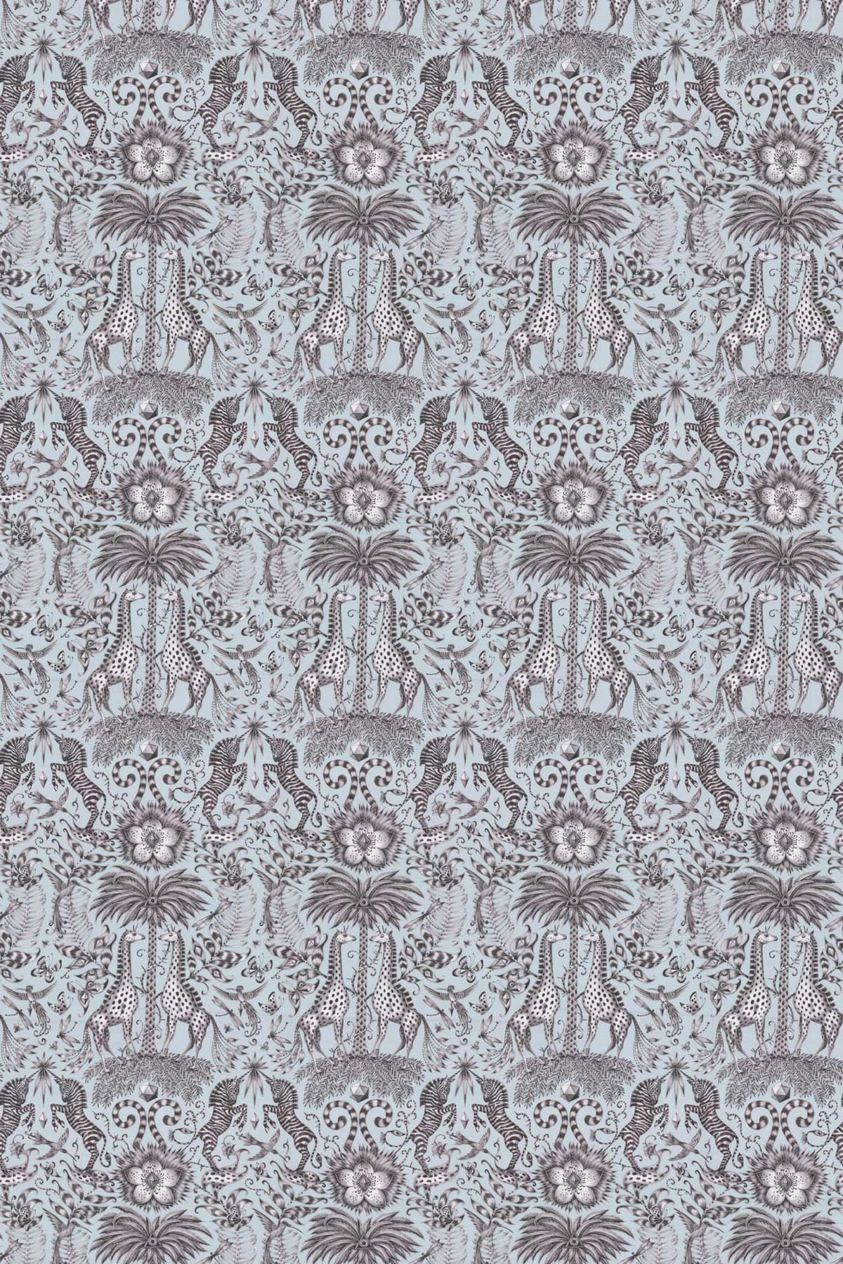 Emma J Shipley Kruger Duck egg Fabric - Product code: F1111/01