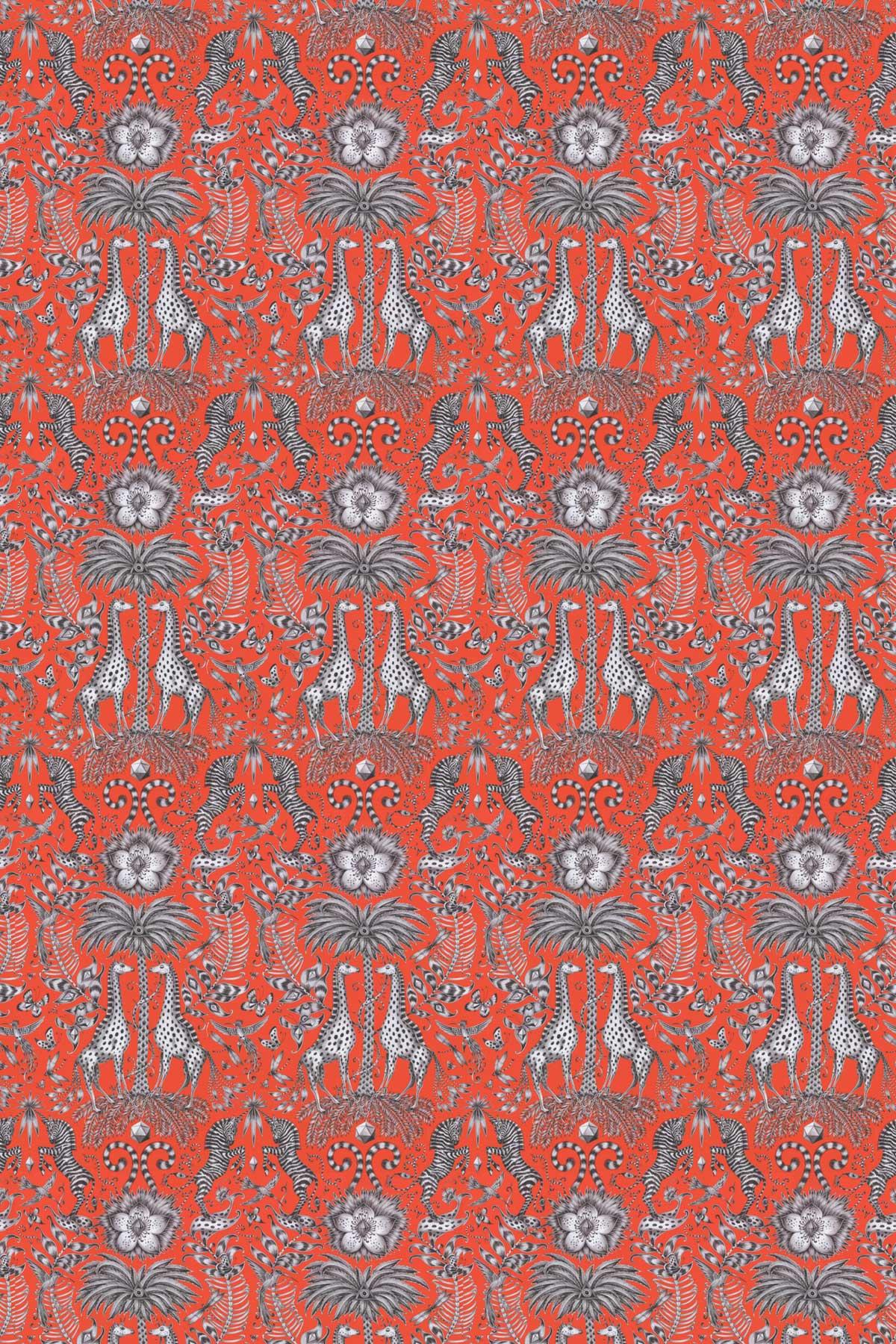Emma J Shipley Kruger Flame Fabric - Product code: F1111/02