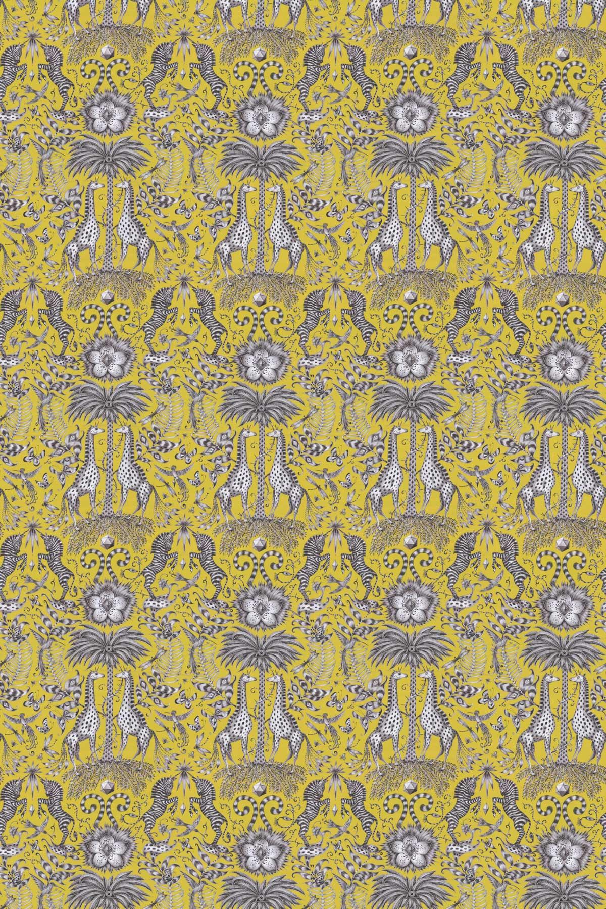 Emma J Shipley Kruger Lime Fabric - Product code: F1111/03
