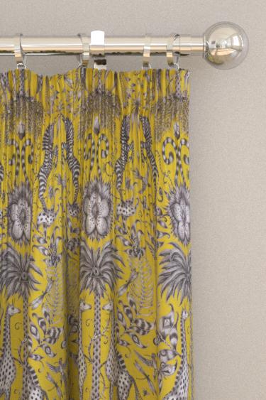 Clarke & Clarke Kruger Lime Curtains