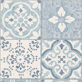 Albany Salinas Tile Blue Wallpaper