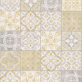 Albany Salinas Tile Yellow / Grey Wallpaper - Product code: SA2302