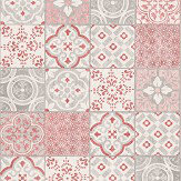 Albany Salinas Tile Pink / Grey Wallpaper