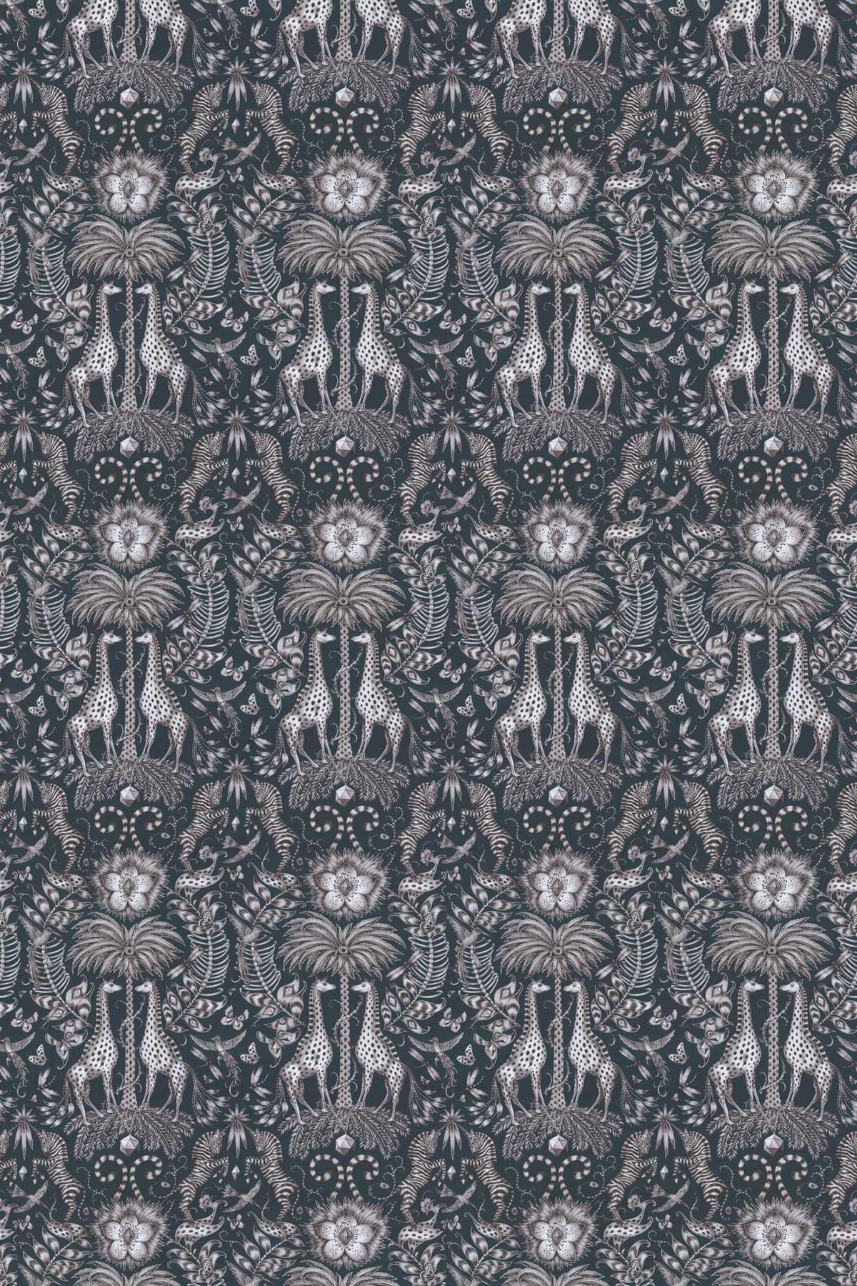 Emma J Shipley Kruger Navy Fabric - Product code: F1111/05