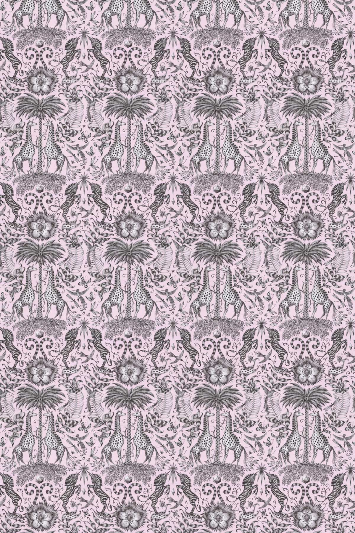 Emma J Shipley Kruger Pink Fabric - Product code: F1111/06