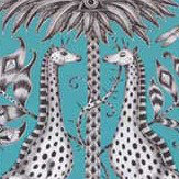 Emma J Shipley Kruger Teal Fabric - Product code: F1111/07