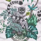 Clarke & Clarke Lemur Green Fabric