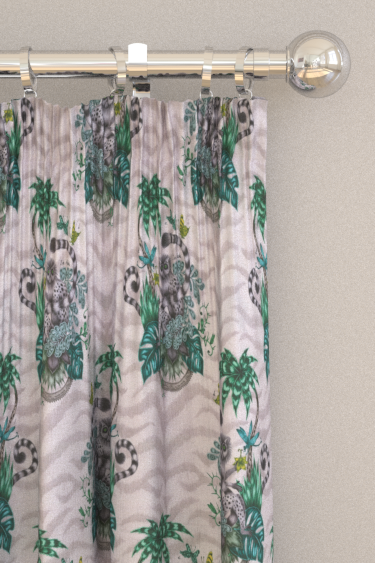 Emma J Shipley Lemur Green Curtains - Product code: F1112/01