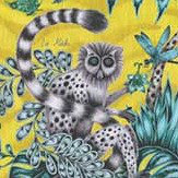 Emma J Shipley Lemur Lime Fabric - Product code: F1112/02