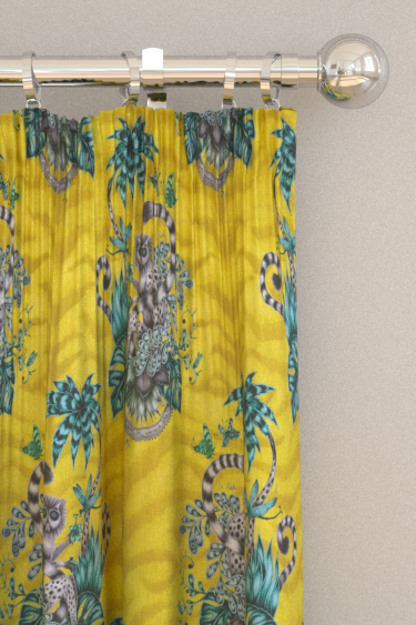 Emma J Shipley Lemur Lime Curtains - Product code: F1112/02
