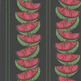 Barneby Gates Watermelon Charcoal Wallpaper