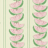 Barneby Gates Watermelon Pink / Green Wallpaper
